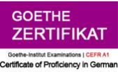 Goethe Zertifikat A1