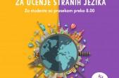 20 stipendija za učenje stranih jezika, oktobar 2020