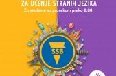 20 stipendija za učenje stranih jezika, februar 2021.